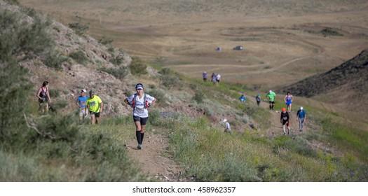 "ALMATY, KAZAKHSTAN, MAY 9, 2015: Competition ""Tengri Ultra Marathon"""