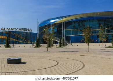 Almaty, Kazakhstan - October 12, 2016: ice arena Almaty Arena was built in 2016 for Winter Universiade in Almaty city.