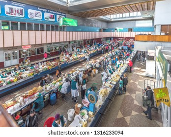 Almaty, Kazakhstan - September 2017: view on the famous city Green Bazaar