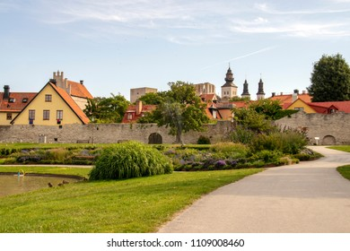 Almedalen is a park in the town Visby