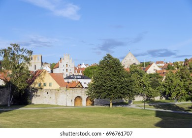 Almedalen in the town Visby
