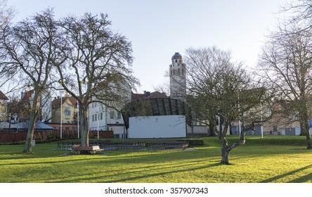 Almedalen in Visby, Sweden