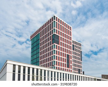 ALMELO, NETHERLANDS - AUGUST 8, 2015: Modern newly build town hall in Almelo, a small city in the eastern part of the netherlands
