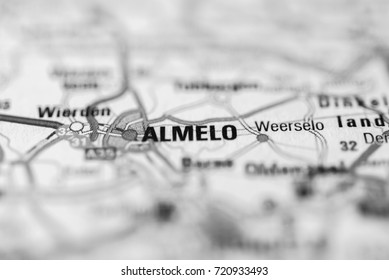 Almelo on map.