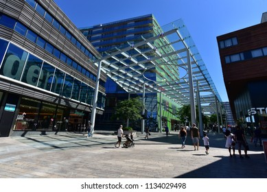 Almere - Flevoland - Netherlands - 14 july 2018 - shopping streets in Almere city centre