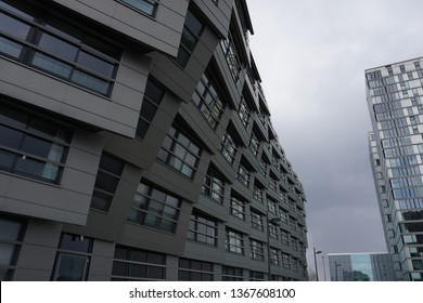 Almere, The Netherlands - April 12 2019: Modern apartement building in Almere, The Netherlands.