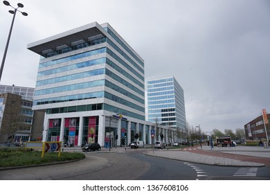 Almere, The Netherlands - April 12 2019: Windesheim Flevoland University of Applied Sciences in Almere, The Netherlands.