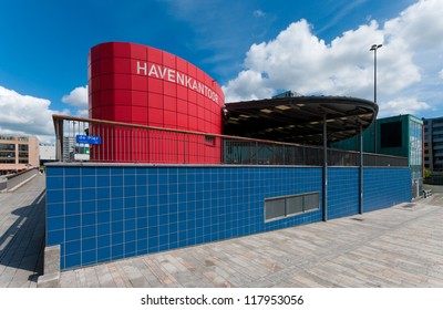 ALMERE, NETHERLANDS - JULY 12: Modern harbor office on july 12, 2012 in Almere, Netherlands. It is the youngest and fastest growing city in the country, founded around 1975.