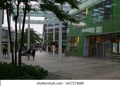 Almere, The Netherlands - June 5 2019: City Center of Almere, Shopping Center in Almere-Stad
