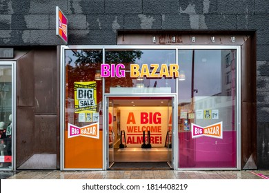 ALMERE, THE NETHERLANDS - SEPTEMBER 3, 2020: Big Bazar branch. Big Bazar is a Dutch discount store-chain with over 100 outlets in the Netherlands and Belgium.