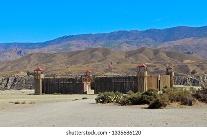 ALMERIA, ANDALUSIA/SPAIN, September 3, 2015: An American fort for western film decoration, located in the desert of Tabernas, in Almería, Spain