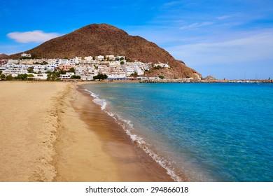 Almeria Cabo de Gata San Jose beach and village of Spain