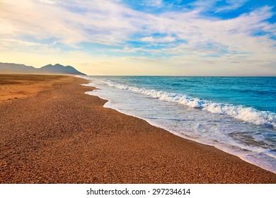Almeria Cabo de Gata San Miguel beach shore in Spain