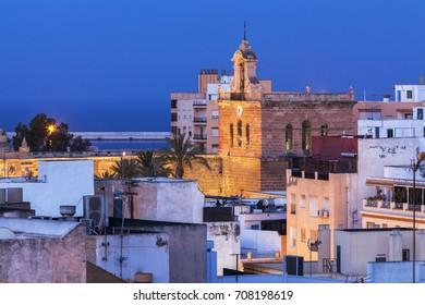 Almeria Cathedral at dawn. Almeria, Andalusia, Spain.