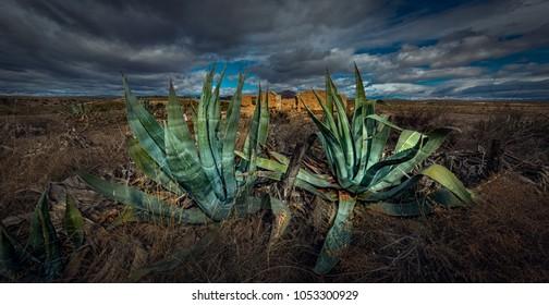 Almeria Landscape at storm