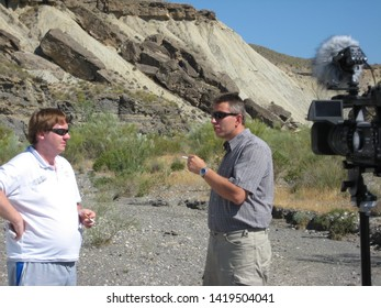 ALMERIA, SPAIN - MAY 3, 2009: The Tabernas Desert is one of the Spain's semi-arid deserts, located within province of Almeria and was filming location for Indiana Jones and the Last Crusade.