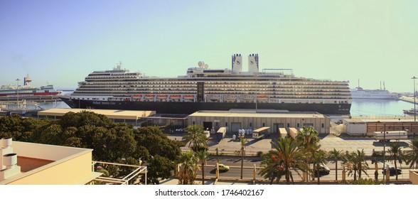 ALMERIA, SPAIN - OCTOBER 25, 2010: MS Nieuw Amsterdam cruise ship in the port of Almeria.