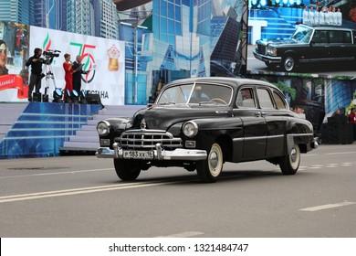 Almetyevsk, Tatarstan, Russia - September 02: Oilman's Day and City Day,car brand ZIM 02 September 2018 in Almetyevsk