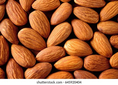 Almond. Almonds macro. Almonds background. Almond nuts.