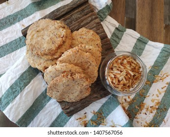 almond cookies, fresh bekery on the table