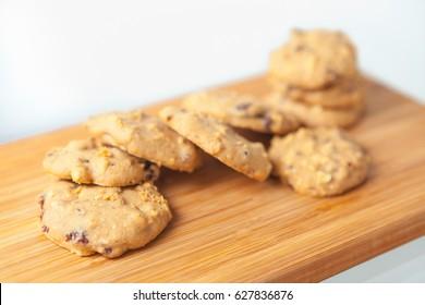 Almond cookies with rasin, homemade cookies