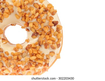 Almond Donut isolated on white background