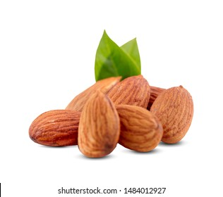 almond, isolated on white background
