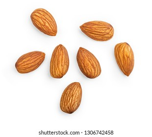 Almond isolated on white with clipping path