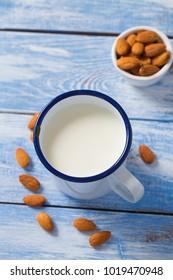 almond milk in a mug