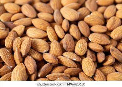 almond nut background, macro shot