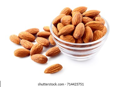Almond. Almond nut isolated. Almond slice. Full depth of field.