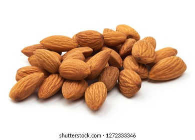 Almond. Almond nuts, close-up, isolated on a white background