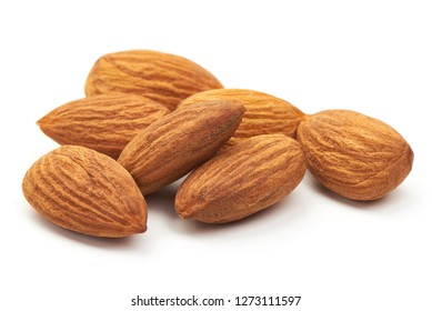 Almond. Almond nuts, close-up isolated on a white background.