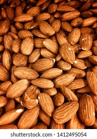almond nuts in full frame