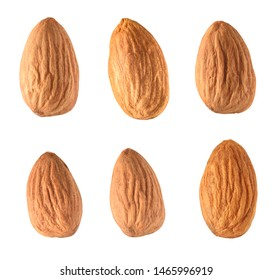Almond set isolated on white background