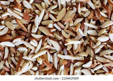 Almond sticks,Top view.