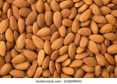 Almonds background , full frame