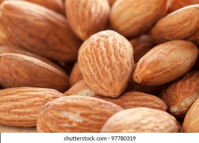 Almonds close-up.