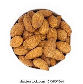 almonds isolated on the white background clipping path included.