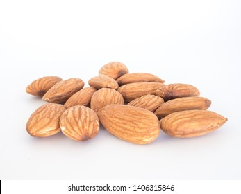Almonds isolated on the withe background
