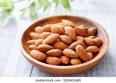 Almonds on the table.