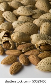 Almonds in shell and out of shell