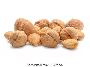 Almonds and walnuts