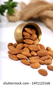 almonds, almonds in white backgrounds