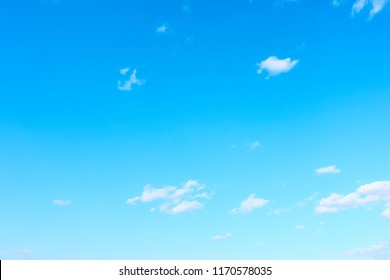 Almost clear blue sky - background with space for your own text