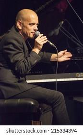 ALMUNECAR, GRANADA / SPAIN - JULY 22, 2014: Tord Gustavsen Quartet playing live music, at XXVII international jazz festival of Almunecar, Jazz in the Cost. Tord Gustavsen, piano.