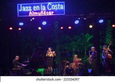 ALMUNECAR, GRANADA / SPAIN - JULY 22, 2014: Tord Gustavsen Quartet playing live music, at XXVII international jazz festival of Almunecar, Jazz in the Cost.