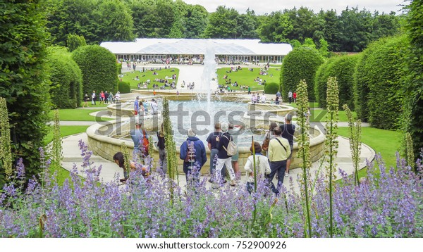 Alnwick Castle Garden Fountain August 2nd Stock Photo Edit Now
