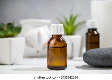 Aloe aroma oils, massage stones, natural medicine, home spa
