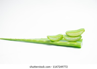 Aloe sliced isolated on a white background